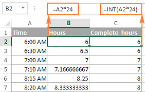Min To Decimal Chart Excel Convert Time To Decimal Number Hours Minutes Or Seconds