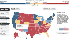 2012 Election Chart 2012 Election Map The Race For The Presidency The Big Picture
