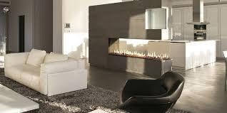 open concept gas fire