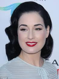 diy routine burlesque star dita von teese dyes her naturally blonde eyebrows with just for