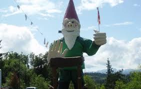 canada british columbia worlds largest gnome statue