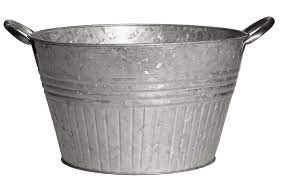 galvanized planter tubs with metal