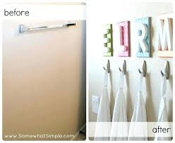 towel hooks instead of a bar with each kids initial above the idea bathroom for kid home improvement tips fall