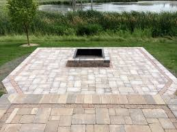 paver patio with fire pit. Square Fire Pit Paver Patio With T