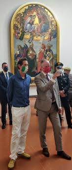 Formula 1 al Mugello: John Elkann in visita agli Uffizi - intoscana