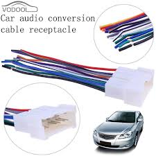 car stereo cd player wiring harness wire connect cable female what gauge are car stereo wires at Connecting Wire Harness To Car Stereo