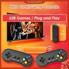 Bộ Máy Chơi Game Không Dây Mini Hdmi Pk06 Tích Hợp 628 Trò Chơi tại Nước  ngoài