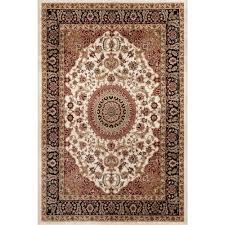 world rug gallery traditional oriental medallion design cream 3 ft x 5 ft indoor