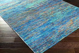 image of blue outdoor rug decor