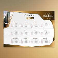 Calender Design Template 2019 Golden Luxury Calendar Design Template For Free Download On Pngtree