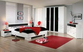 red and white rooms design | Red White Black Bedroom, Bedroom ...