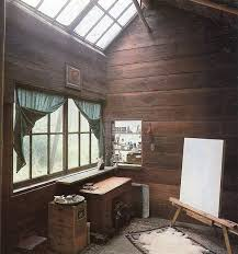 painting studio lighting. painting studio perfect lighting love the soothing warm wood walls