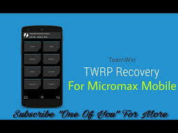 Micromax X396 TWRP Recovery [official ...