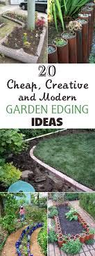 Cheap Landscape Edging 20 Cheap Creative And Modern Garden Edging Ideas