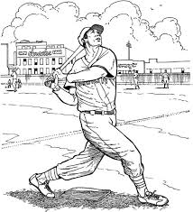 Red Sox Coloring Pages Boston Red Sox Batter Baseball Coloring Page