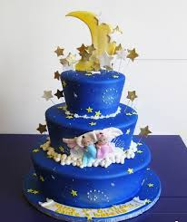 Order Twins Special Moon Theme Birthday Cake Online Birthday Cake
