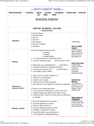 Writing English Business Letters Useful Phrases English