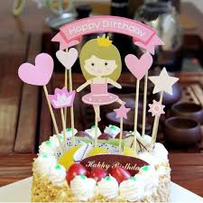 Amazoncom Princess Baby Girl Diy Happy Birthday Cake Topper Baby