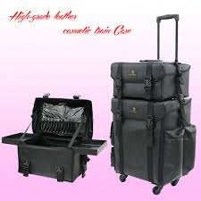 dels about 2 in1 pro makeup artist trolley case soft cosmetic storage drawers suitcase box