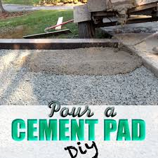 pour a cement pad diy everything