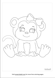 More images for cartoon monkey coloring page » Girl Monkey Coloring Pages Free Animals Coloring Pages Kidadl