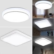 Led Square Flush Ceiling Lights Details About Led Ceiling Light 24w Bright White Flush Mount Square Round For Livingroom Lamp