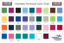Scrub Color Chart Cherokee Uniforms Color Chart Hot Nursing Scrubs