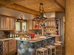 Rustic Log Kitchen Cabinets Gorgeous Log Cabin Kitchen Ideas
