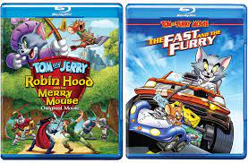 Tails of Tom and Jerry Animated Cartoon Movies Robin Hood Blu Ray & His  Merry Mouse + The Fast and the Furry Feature: Amazon.de: DVD & Blu-ray