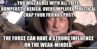 Image result for force weak minded