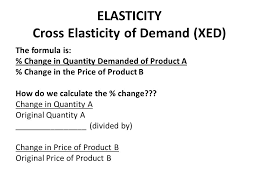 elasticity cross elasticity of demand xed the formula is change in quantity