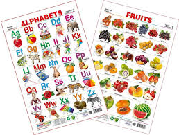 Flower Chart In English Spectrum Combo Educational Wall Chart English Alphabets