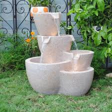 garden fountain lighted water fountains outdoor modern outdoor decor fountains on garden with led and