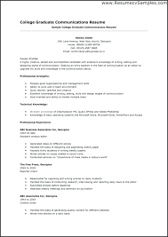 College Graduates Resume Best High School Resume Examples Good Templates Template For College