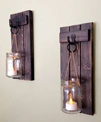 Rustic Wall Decor, Wall Sconce, Rustic Wall Sconce, Candle Holder, Rustic  Wooden