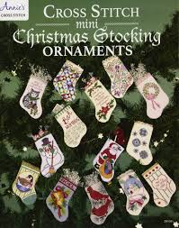 Cross Stitch Stocking Patterns Beauteous Cross Stitch Mini Christmas Stocking Ornaments Annie's