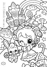 Kawaii Coloring Book Printable Pages Beautiful Girl Fashion