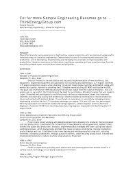 Manufacturing Engineer Resume Berathen Com