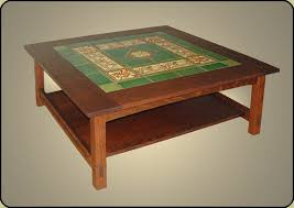 Awesome Mission Tile Top Coffee Table Nice Design