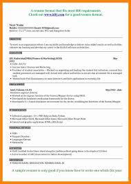 Resume Format Of Fresher Resume Format For Mba Finance Resume