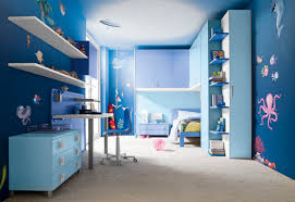 wonderful blue kids bedroom interior decorating ideas with blue