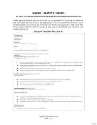 Sample Resume For Teachers Resume Template Teaching Sample Awful Teachers Elementary 16