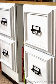 office diy ideas. DIY File Cabinet Facelift - Picture Frames Glued To The Front Cabinets. What A Office Diy Ideas