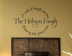 religious wall decals family circle bonded by faith wall decal religious wall art decals best images
