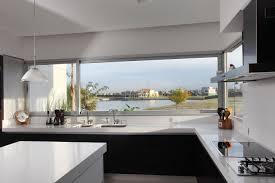 Black And White Modern Kitchen Black White Interior Minimalist Kitchen Interior House Design
