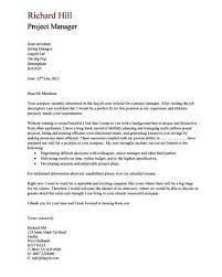 Construction Manager Cover Letter Sample Throughout Project
