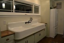 double farmhouse sink with drainboard befon for