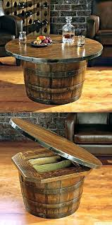 unique round coffee tables unique round coffee tables handmade vintage oak whiskey barrel round table unusual unique round coffee tables