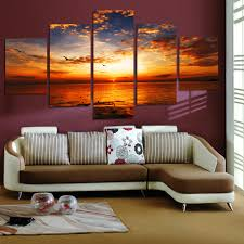 Living Room Canvas Paintings Online Buy Wholesale 5 Panel Canvas Art From China 5 Panel Canvas