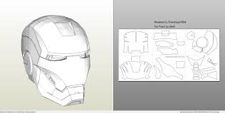 4 by 6 photo size foamcraft pdo file template for iron man mark 4 6 full armor